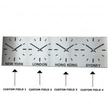 Tijdzoneklok van staal, 4 zones
