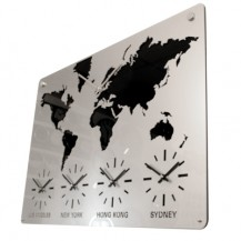 Acryl 5-zone wereldkaartklok