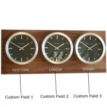 3-zone tijdzoneklok 26 cm